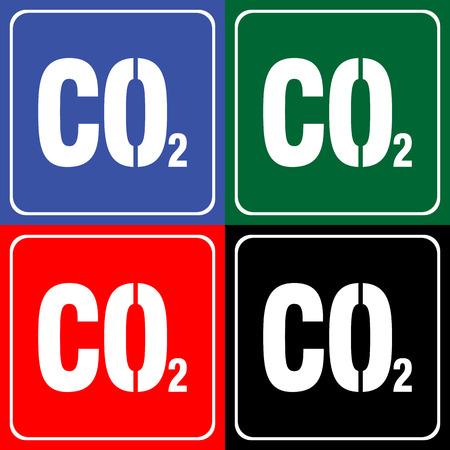 dioxide: Carbon dioxide icon sign