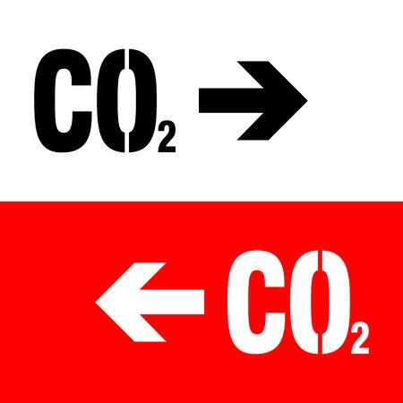 dioxido de carbono: Signo Qu�mica. CO2 icono de di�xido de carbono