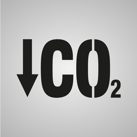 co2: Chemistry sign. CO2 carbon dioxide icon