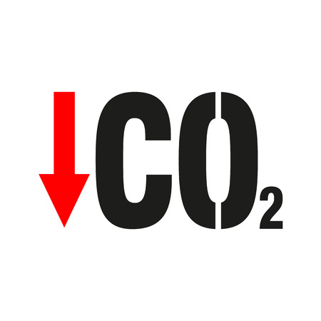 Chemistry sign. CO2 carbon dioxide icon Vector