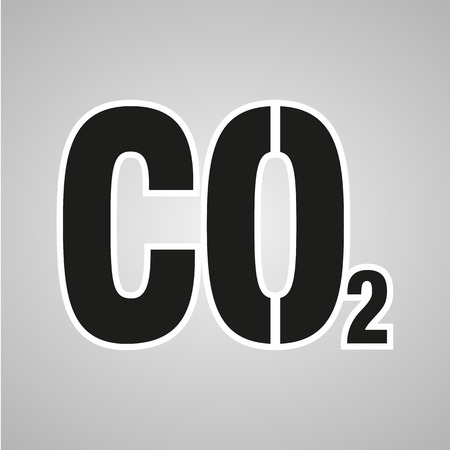 dioxide: Chemistry sign. CO2 carbon dioxide icon