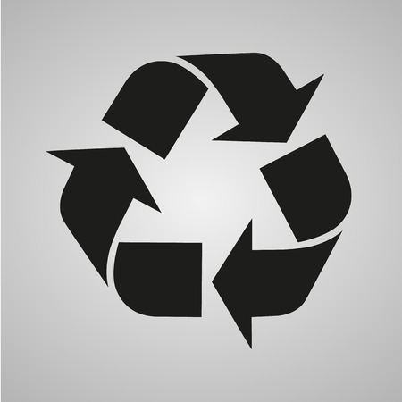 symbols: Recycle sign isolated