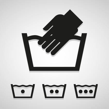 solvant: Vecteur de blanchisserie et de lavage des ic�nes pour le web et mobiles
