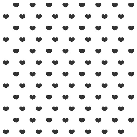Black and white heart pattern background Vector