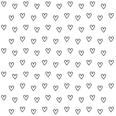 Black and white heart pattern background