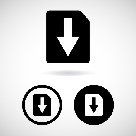 vector download: Vector download file icon. File document symbol.