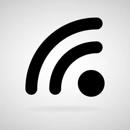 icono wifi: Vector icono wifi en el fondo blanco Vectores