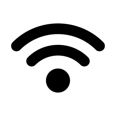 wireless connection: Vector wireless connection icon on white background