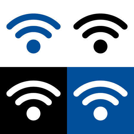 wireless connection: Vector wireless and wireless connection icon or sign Illustration