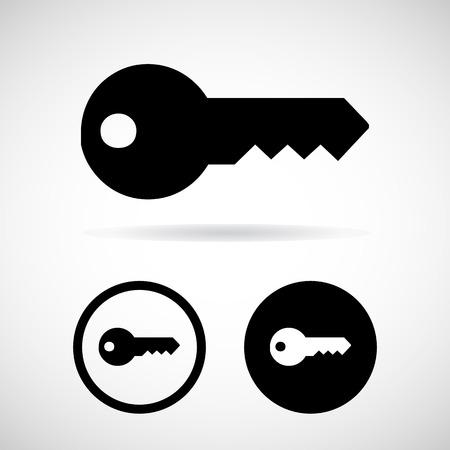 Key icon.  Illustration