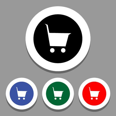 icon shopping cart: Einkaufswagen-Symbol Vektor- Illustration