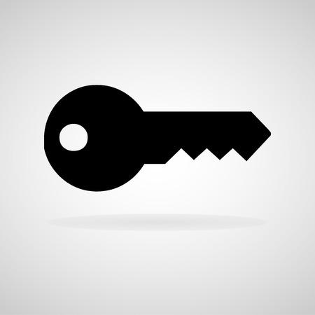key hole: Key icon.  Illustration