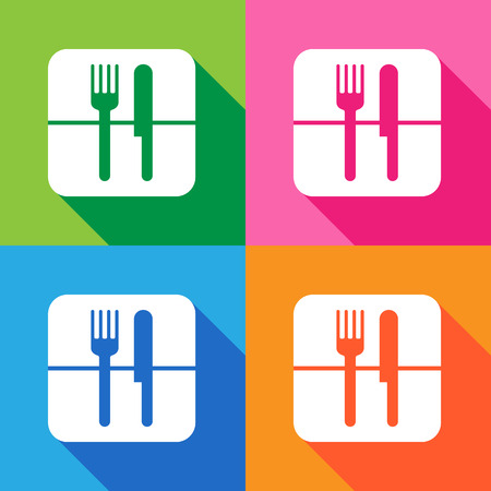 Fork knife icon vector  Vector
