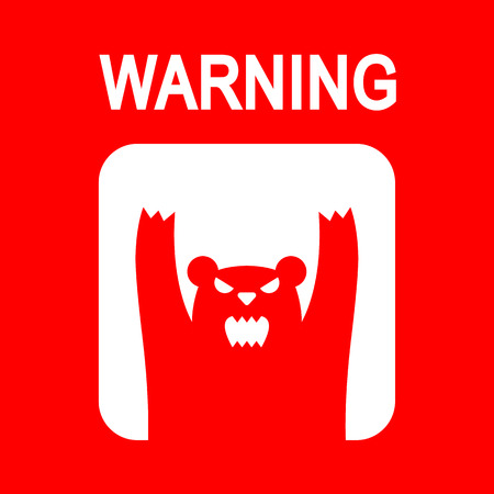 wild bears: Traffic wild bears icon or sign,