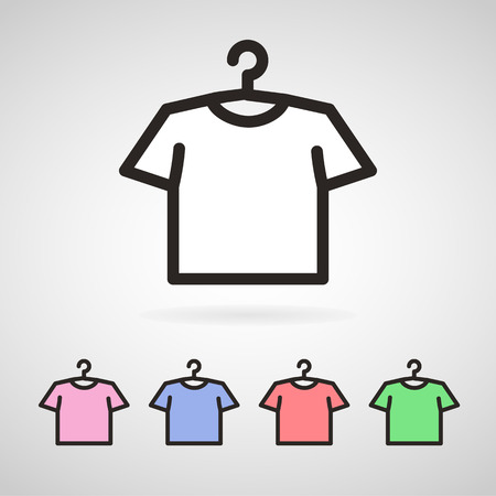 t shirt printing: Vector colorful male or female t-shirts. EPS10