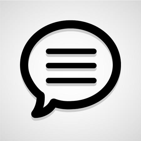 chat bubble vector: Black icon chat bubble vector