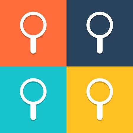 Search icon vector, Illustration  Vector