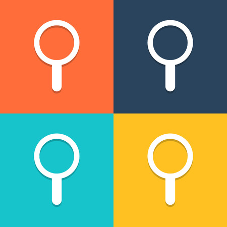 search icon: Search icon vector, Illustration  Illustration