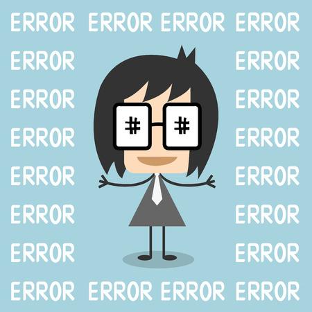 not found: Vector p�gina de error 404 no encontrado. concepto grito hombre de negocios, Vectores