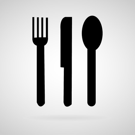 Fork spoon knife vector and icon,  Vector