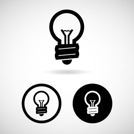 Light bulbs. Bulb and Lamp icon, EPS10 Vector