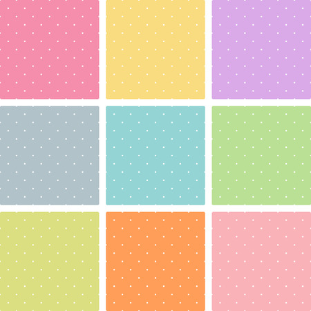orthogonal: Vector texture of seamless polka dots background