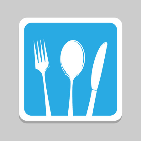 fork and spoon: Fork spoon knife vector and icon, EPS10