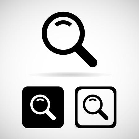search icon: Zoek pictogram, vector illustratie