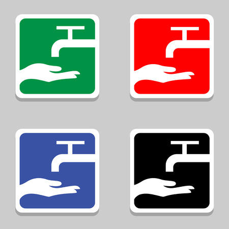 Vector please wash your hands sign (please wash your hands icon, please wash your hands symbol, please wash your hands label)