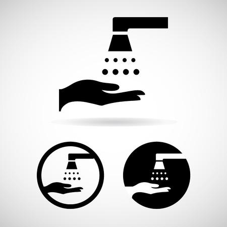 please wash your hands icon: Vector please wash your hands sign (please wash your hands icon, please wash your hands symbol, please wash your hands label)