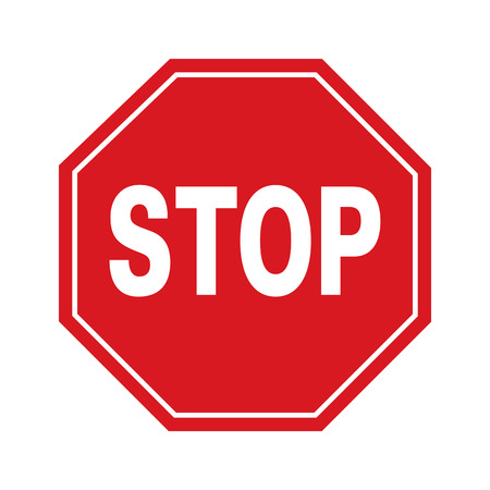 Vector stop sign and icon,