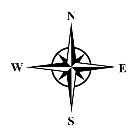 the wind rose: Vector compasses icon. Wind rose,  10