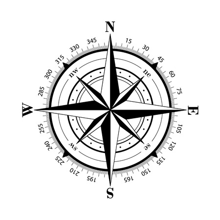 the wind rose: Vector compasses icon. Wind rose, EPS 10 Illustration