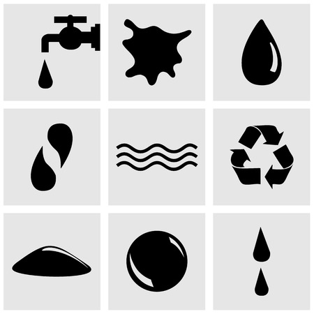 eps10: Vector water icon set, EPS10 Illustration