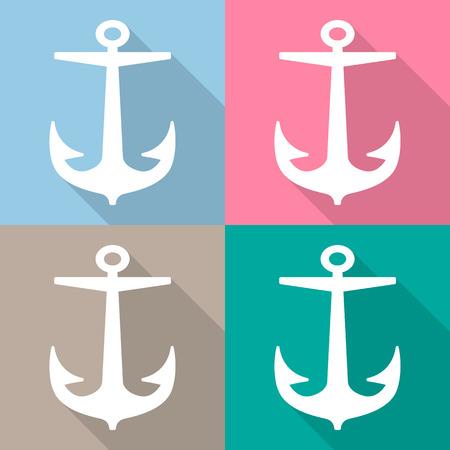 Anchor and icon Vector