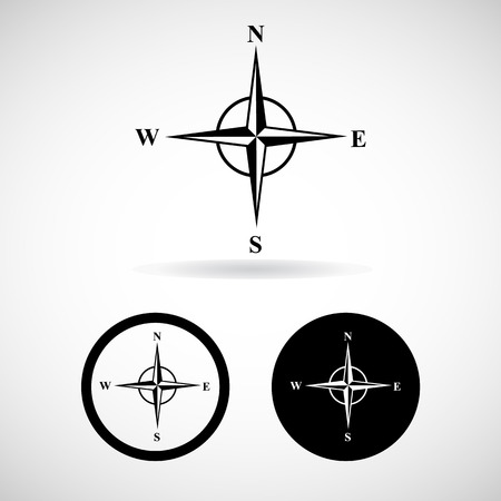 wind rose: Vector compasses icon. Wind rose, EPS 10 Illustration