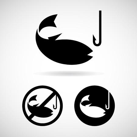 man fishing: Ninguna pesca y el icono
