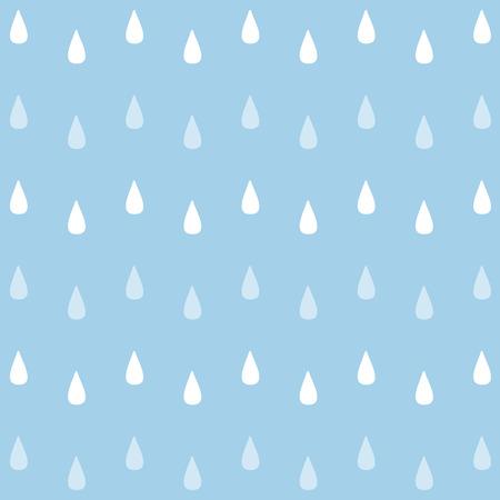 naadloze aquarel regen patroon. Stock Illustratie