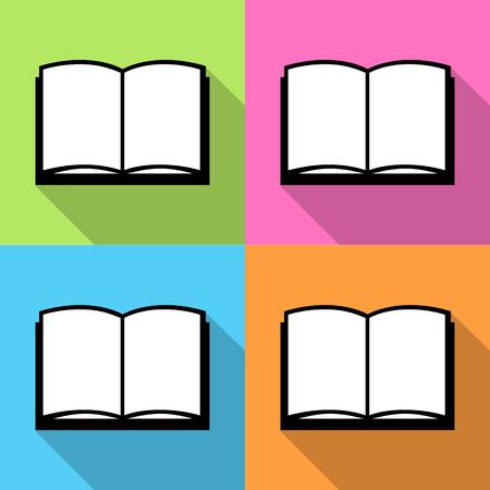 e reader: Book icon, Vector illustration