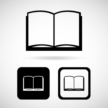 videobook: Book icon, Vector illustration