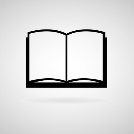 videobook: Book icon, Vector illustration