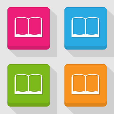 electronic publishing: Book icon, Vector illustration