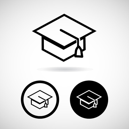 Graduation cap, Vector illustration