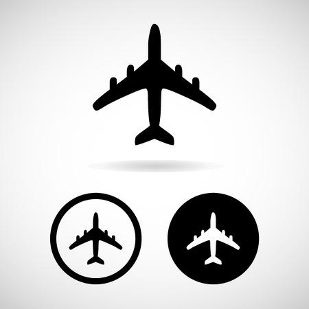 aereo icona: Icon Airplane, illustrazione vettoriale