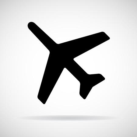 airplane icon: Airplane icon, Vector illustration Illustration