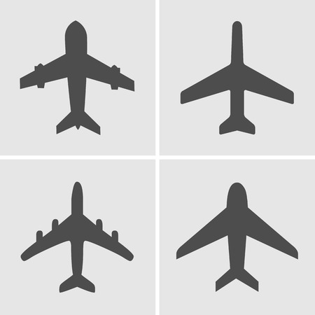 airway: Airplanes icons, Vector illustration