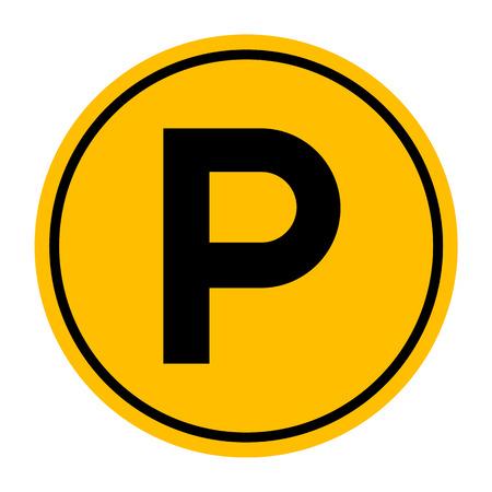 se�al parking: Se�al de aparcamiento, ilustraci�n vectorial
