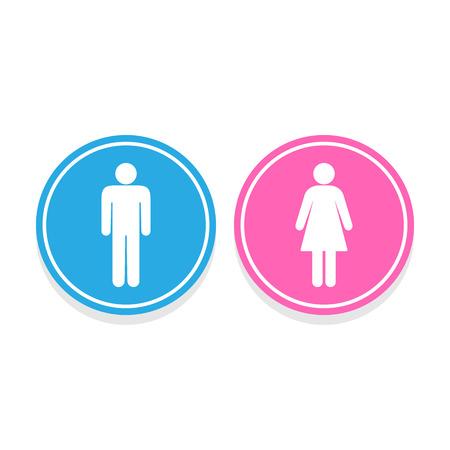 Mann und Frau Toilette Zeichen, Vektor-Illustration Illustration