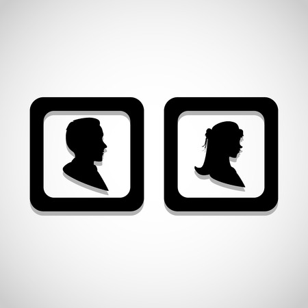 restroom sign: Man and lady toilet sign, Vector illustration