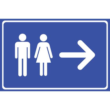 Mann und Frau Toilette Zeichen Vektor-Illustration